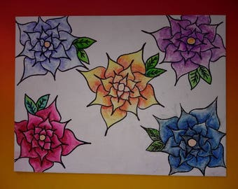 Water color flower painting