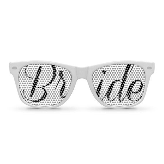 BRIDE White Retro Party Wedding Sunglasses
