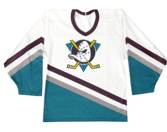 330144164 Vintage Anaheim Mighty Ducks White CCM NHL Hockey Jersey Medium Disney  California