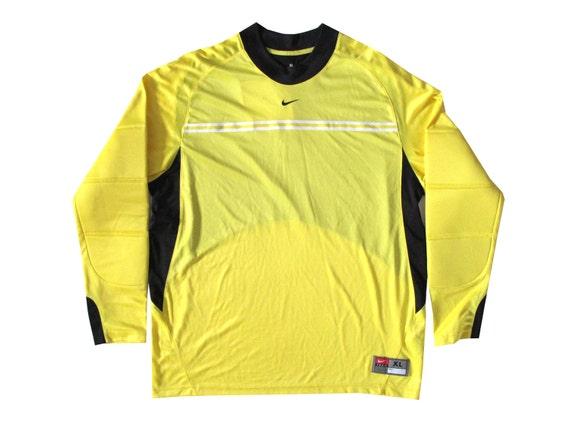 Nike Neon Yellow & Black Soccer Goalie Jersey