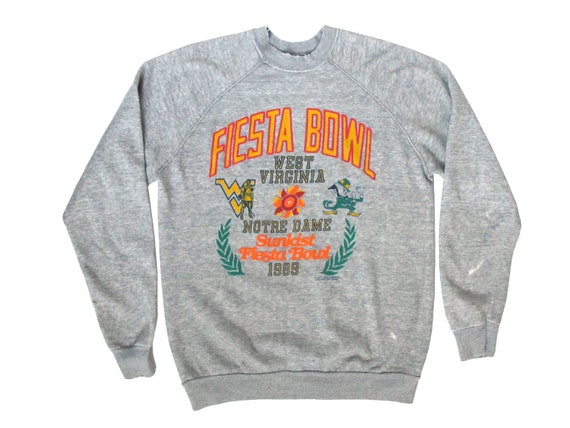 Sunkist Fiesta Bowl 1989 West Virginia Notre Dame Tri-Blend Sweatshirt