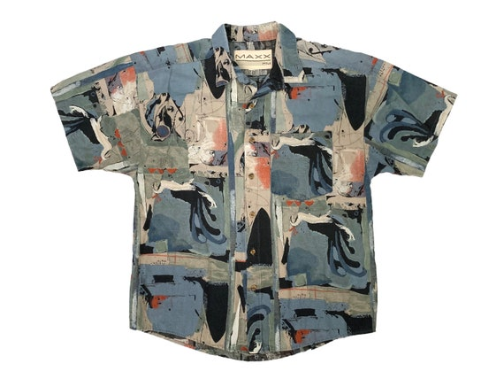 Maxx FM Abstract Painting Collared Shirt