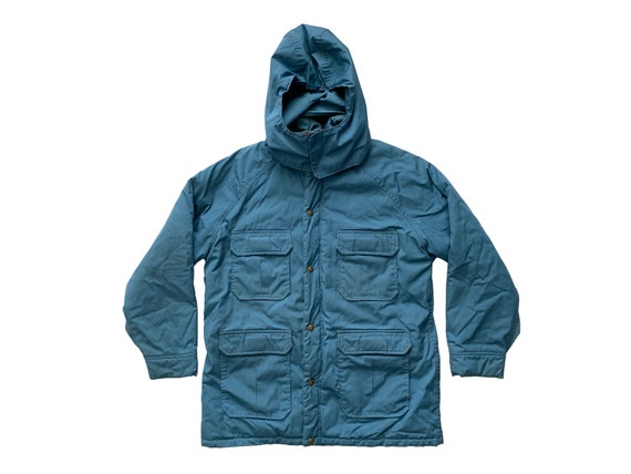 Woolrich Slate Blue Hooded Womens Jacket