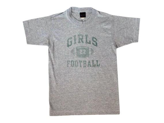 Girls Football Heather Grey T-Shirt