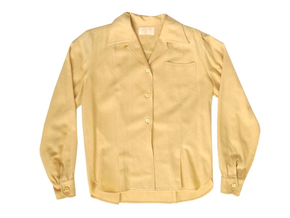 Pendleton Beige Wool Womens Collared Shirt