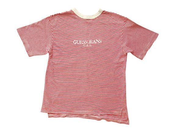 Guess Jeans USA Bootleg Striped T-Shirt