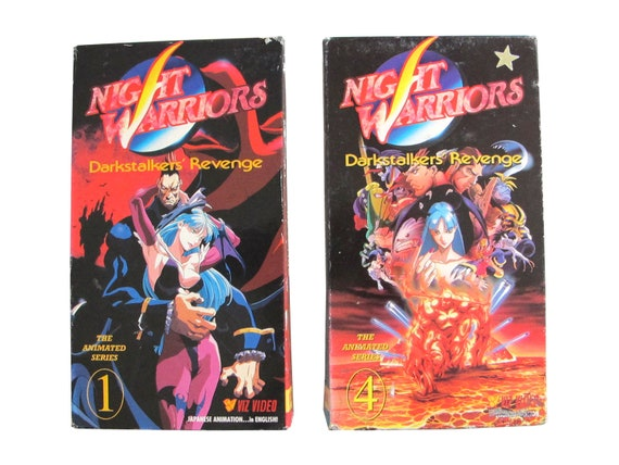 Night Warriors Darkstalkers Revenge Vol 1 & 3 VHS