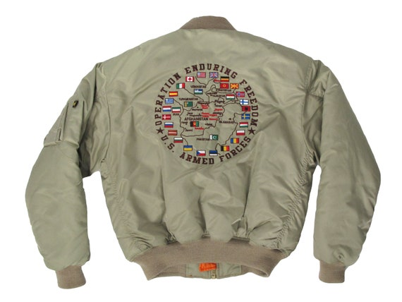 US Armed Forces Operation Enduring Freedom Bomber Jacket
