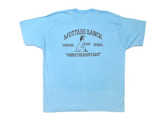 Mustang Ranch Riding Instructor Where The Ridin's Easy T-Shirt