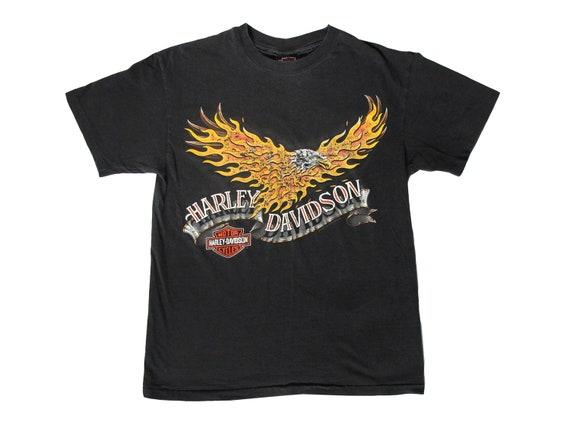 Harley Davidson Bald Eagle on Fire T-Shirt