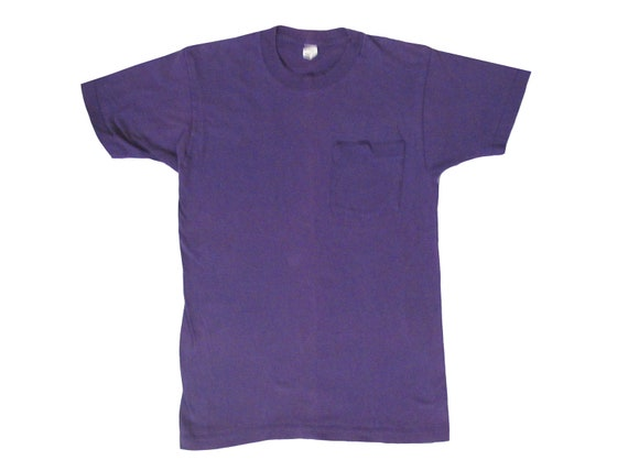 BVD Blank Purple Pocket T-Shirt