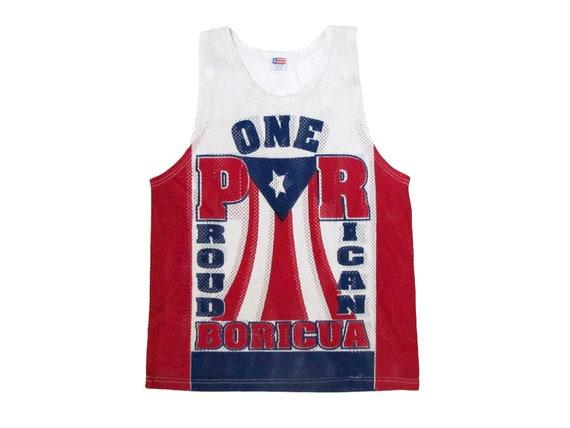 Puerto Rico One Proud Rican Boricua Mesh Tank Top