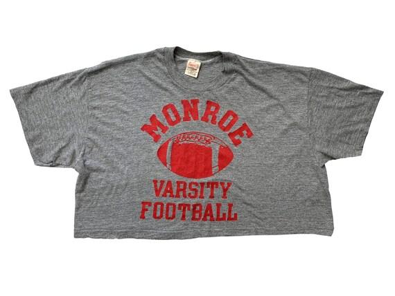 Monroe Varsity Football Cropped Tri-Blend T-Shirt