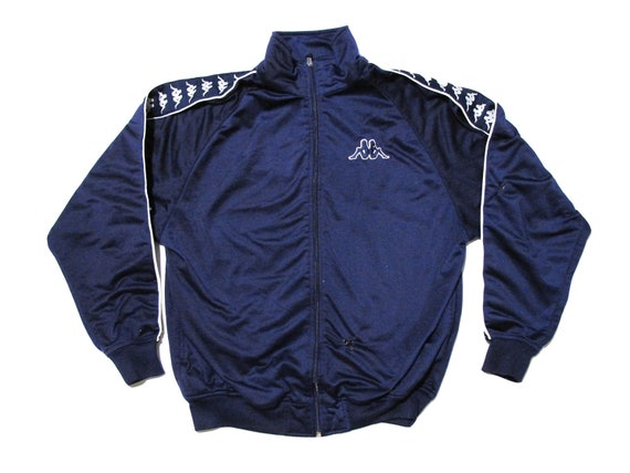 Kappa Blue & White Track Jacket