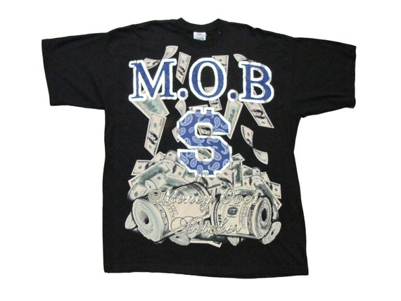 Money Over Bitches MOB Black Tall Tee