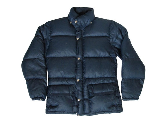 The North Face Navy Blue Winter Puffer Jacket