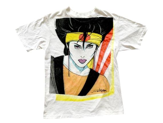 Patrick Nagel Style Woman Air Brush T-Shirt