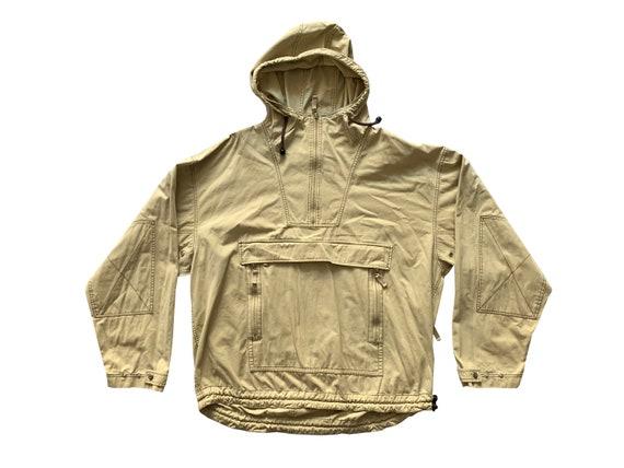 Gap Beige Hooded Half Zip Jacket