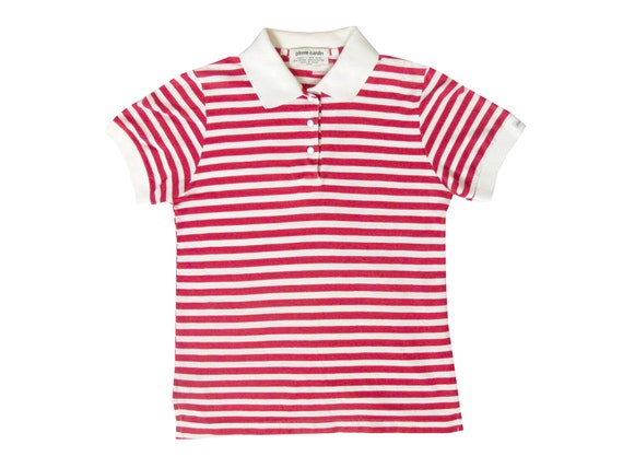 Pierre Cardin Red & White Striped Womens Polo Shirt
