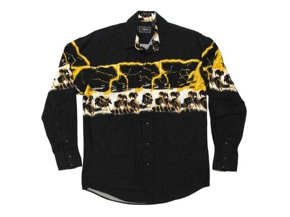 Lightning & Horses Western Shirt