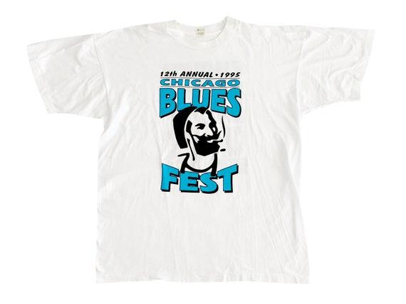 12th Annual Chicago Blues Fest 1995 Sweet Leaf T-Shirt