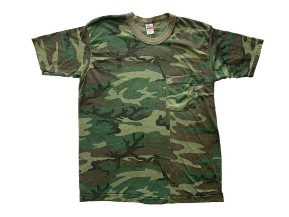 Camouflage Imperfect Blank Pocket Tee