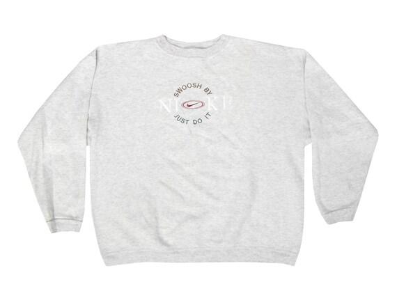 Swoosh by Nike Just Do It Embroidered Bootleg Sweatshirt