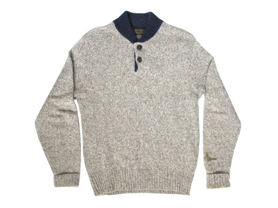 Eddie Bauer Grey Wool Sweater