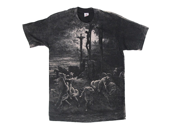 Gustav Dore The Crucifixion All Over Print T-Shirt