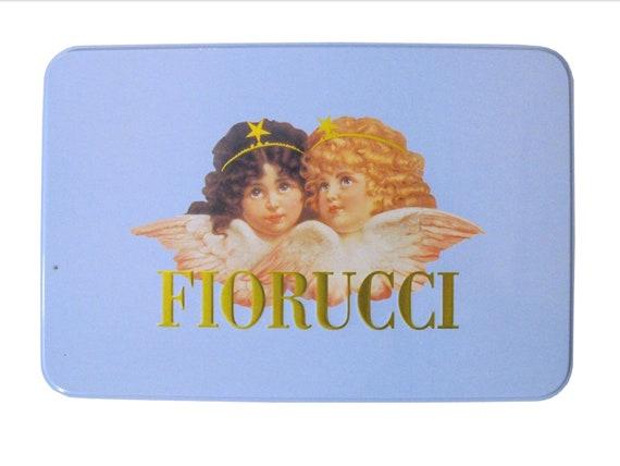 Fiorucci Angels Cherubs Blue Tin Case