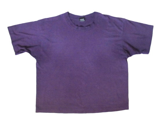 Screen Stars Best Blank Cropped Purple T-Shirt
