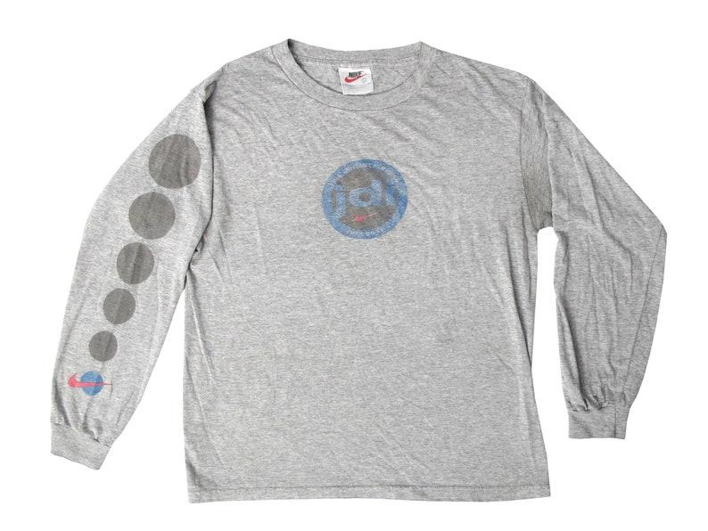 6896cab5 Vintage Nike Just Do It Grey Long Sleeve Shirt Youth Large   Etsy
