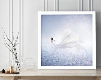 "Fine art photography print of ""Begin"". Limited Edition, surreal, desert, contemporary art, original artwork by Toronto artist"