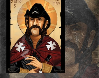 Lemmy motorhead icon-caricature sticker