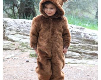 Bear Costume//Ringbearer Outfit//Wedding//Halloween kids//Hooded Romper//Kids costume//Toddler costume//Handmade//Gift for Kids//Brown  sc 1 st  Etsy & Bear costume | Etsy