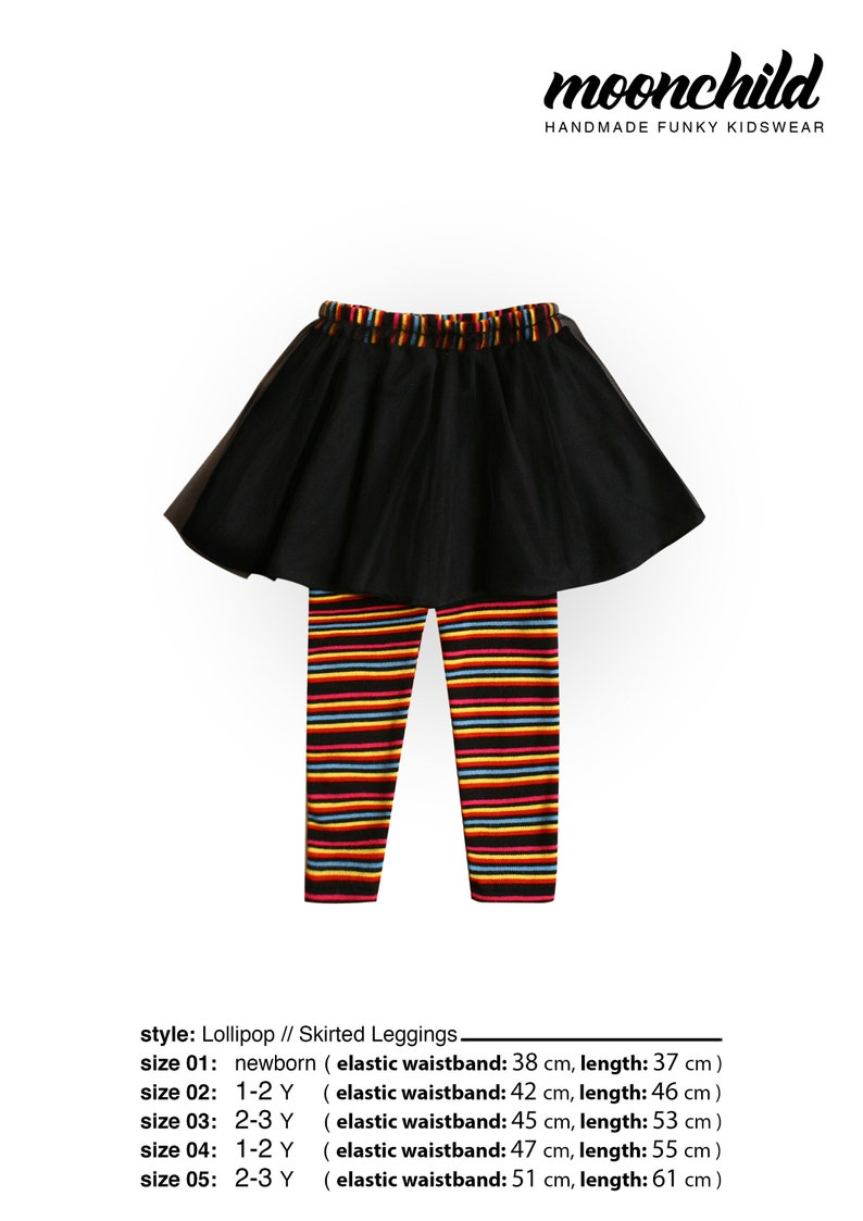 96abc9d6df47 Lollipop//Skirted Leggings for Girls//SIZES from 0 to 5Y//Girl | Etsy