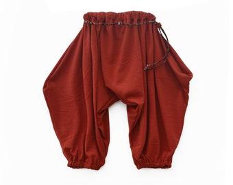 Ziegel Haremshose für Kinder / / Größen von 0 bis 5 Jahren / / Baby, Kleinkind, Kind Hosen / / handgemachte Harem Hosen / / Funky Kinder Kleidung / Hippie Kinder Kleidung
