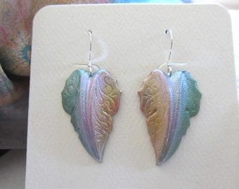 Hand Painted Fall Leaf Earrings By Diane Kirkup ... A Play On Colors For Fall ... Presented On Sterling Silver Ear Findings ... Fall Leaves