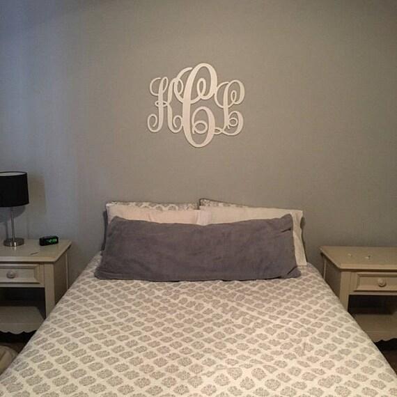 Wood Monogram Wall Decor PAINTED MonogramAll Sizes Home   Etsy