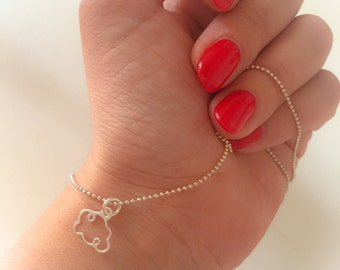 925 sterling silver necklace with cloud pendant