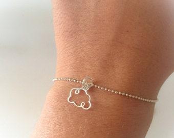 Cloud bracelet in sterling silver 925
