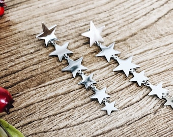 Steel Star Earrings