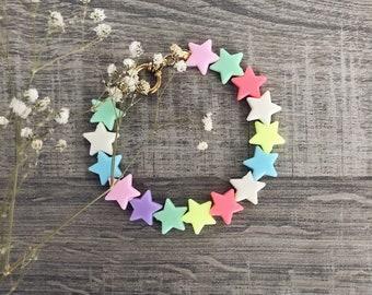 Bracelet with resin stars