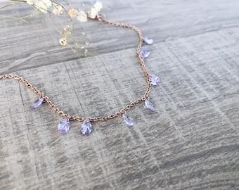 Bracelet with steel chain and Swarovski pendants
