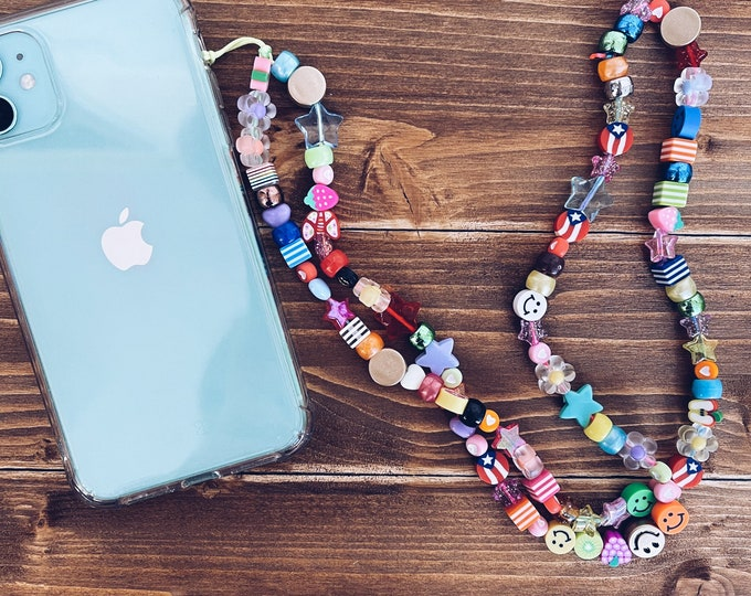 Featured listing image: Personalized phone cord with beads