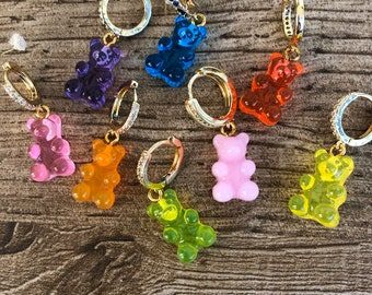 Mono gummy bear earring in various colors