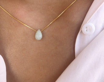The droplets - Necklaces with golden Venetian chain and mini teardrop stone