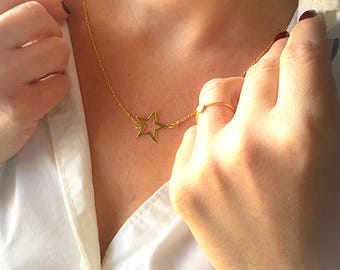 925 sterling silver necklace star