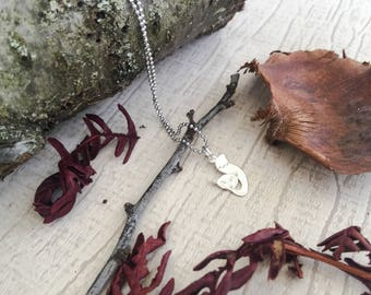 Necklace with 925 silver plated chain and fox pendant