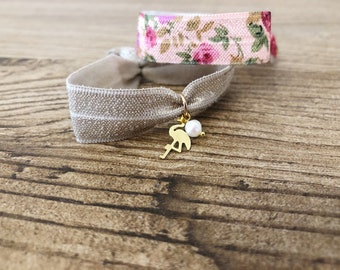 Set of elastic bracelets with sea and beads theme pendants
